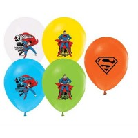 BALON BASKILI LİSANSLI 12 İNC 4+1 SUPERMAN  Pakette 12 Adet