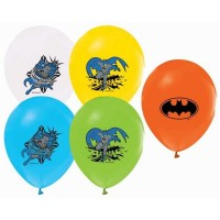 BALON BASKILI LİSANSLI 12 İNC 4+1 BATMAN  Pakette 100 Adet