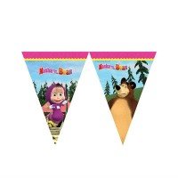 MASHA AND THE BEAR ÜÇGEN BAYRAK SET Pakette 1 Adet