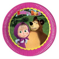 TABAK MASHA AND THE BEAR 23cm  Pakette 8 Adet
