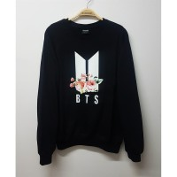 K-Pop - BTS New Logo Flower Unisex Uzun Kollu