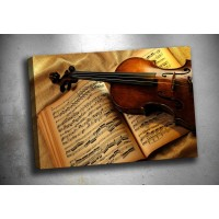 Violin Kanvas Tablo