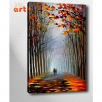 Afremov Yol Kanvas Tablo