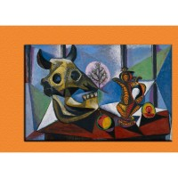 Bull Skull, Fruit, Pitcher by Picasso
