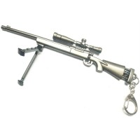 Pubg 25 Cm Boyutunda Gun with Hook and Gun Stand Metal Biblo