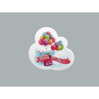 Sticker Happy Bırthday Balonlu  Pakette 50 Adet
