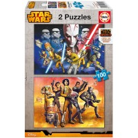 Educa Çocuk Puzzle Karton 2X100 Star Wars Rebels