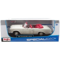 Maisto 1:18 1967 Mercedes-Benz 280 SE Model Araba