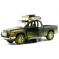 Maisto 2002 Dodge Ram Quad Cam 1:24 Dirt Riders Yeşil