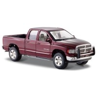 Maisto 2002 Dodge Ram Quad Cab 1:24 Model Araba S/E Bordo