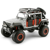 Maisto 2015 Jeep Wrangler Unlimited 1:24 Desing Model Araba Gri