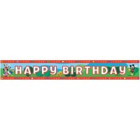 MICKEY CLUB HOUSE BIRTHDAY FOLYO BANNER Pakette 1 Adet