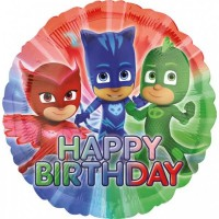 Folyo Balon 17 Inc Pj Masks Happy Bırthday 43Cm Anagram Marka  Pakette 1 Adet