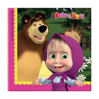 KAĞIT PEÇETE MASHA AND THE BEAR 33 Pakette 20 Adet