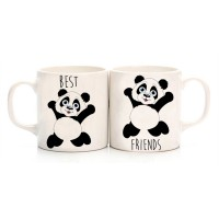 Panda Best Friends Çift Kupa