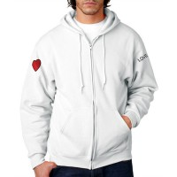 Kolda Heart and Love (Beyaz) (Unisex) Kapüşonlu