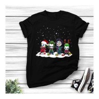 Chibi Joker All Series Merry Christmas Unisex T-shirt