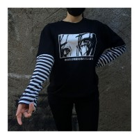 Not Looking Back Unisex Çizgili Kollu Sweatshirt