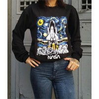 Art - Nasa Starry Night Rocket (Unisex) Uzun Kollu