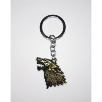 "Game of Thrones - ""Stark"" (GOLD) Winter is Coming House Crest Anahtarlık"