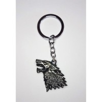 "Game of Thrones - ""Stark"" (SILVER) Winter is Coming House Crest Anahtarlık"