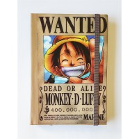 One Piece - Wanted Monkey.D.Luffy Defter