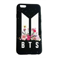 K-Pop - BTS New Logo Flowers Iphone 7 - 8  Telefon Kılıfı