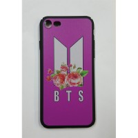 K-Pop BTS - New Logo Flowers Pembe Iphone 7 - 8  Telefon Kılıfı