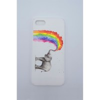 Rainbow Elephant iPhone 7 - 8  Telefon Kılıfı