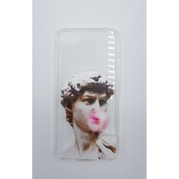 Art - Michelangelo - David Bubble Gum Şeffaf iPhone 7 - 8  Telefon Kılıfı