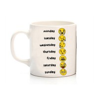 Days Of The Week Funny Emoji Kupa