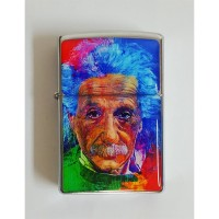 Albert Einstein - Water Colour Portre Çakmak