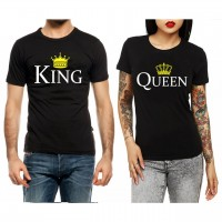 King - Queen Beyaz Çift T-shirt