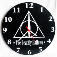 Harry Potter - The Deathly Hallows Ahşap Duvar Saati