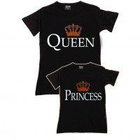 Queen & Princess Anne Kız Aile T-shirtleri
