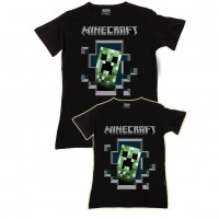 Mine Craft Anne Kız Aile T-shirtleri