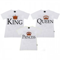 King,Queen & Princess Aile T-shirtleri