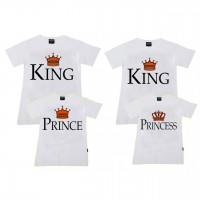 King,Queen,Prince & Princess Aile T-shirtleri