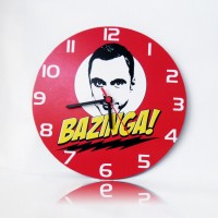 The Big Bang Theory - Bazinga Ahşap Duvar Saati