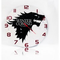 Game Of Thrones - Stark - Winter İs Coming Ahşap Duvar Saati