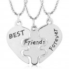 Best Friends 3`lü Kalp Kolye