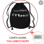 GAME OF THRONES - Logolar Çanta alana Yaka Rozeti HEDİYE