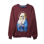 Virgin Mary - Bordo Star Uzun Kollu (Unisex)
