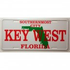 Dekoratif Plaka Southernmost City Key West Florida