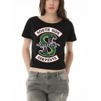Riverdale - South Side Serpents Yarım Kadın T-shirt