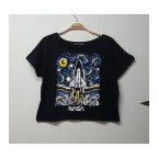 Art - Nasa Starry Night New Yarım Kadın T-shirt