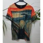 Dijital Baskı Edvard Munch - The Scream Unisex T-shirt