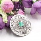 The Maze Runner - Pendants Thomas Retro Rope Leather Necklace Vintage Round  Kolye